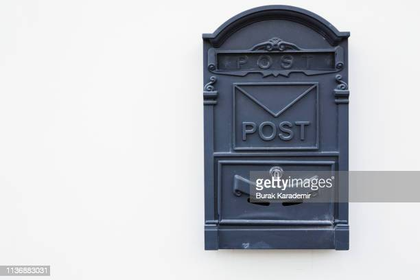 private mailbox hanging on wall - global entry stock pictures, royalty-free photos & images