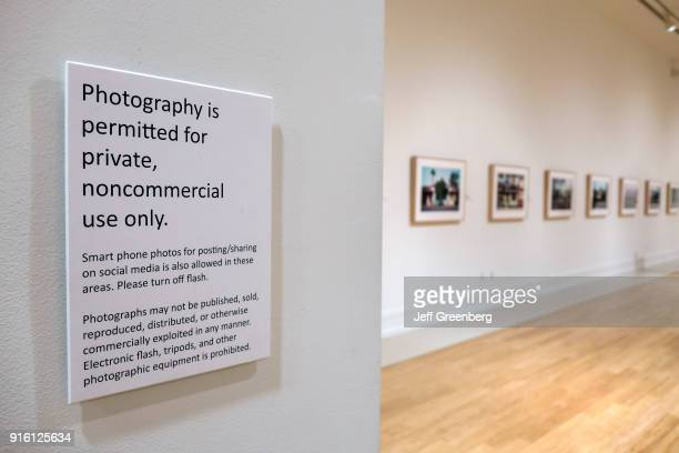 A private noncommercial photography only sign in the Vero Beach Museum of Art