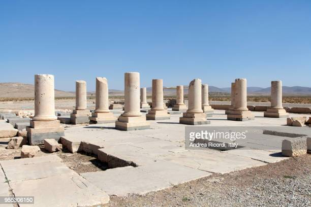 private palace ruins at pasargad archaeological site, iran - old ruin stock pictures, royalty-free photos & images