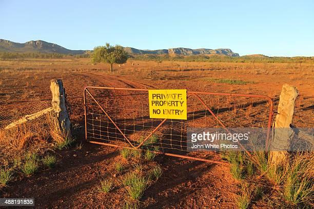 Private Property. No Entry sign. Flinders Ranges.