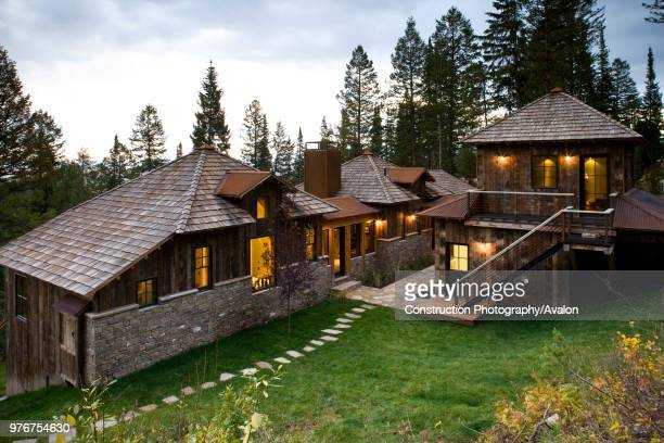Private residence in Wilson Wyoming near Jackson Hole Home features views of the Teton mountain range Though rustic in look the home at the time of...