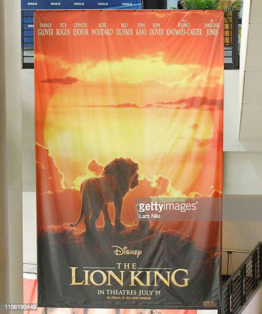 IMAX private screening for the movie The Lion King at AMC Loews Lincoln Square theatre on July 17 2019 in New York City