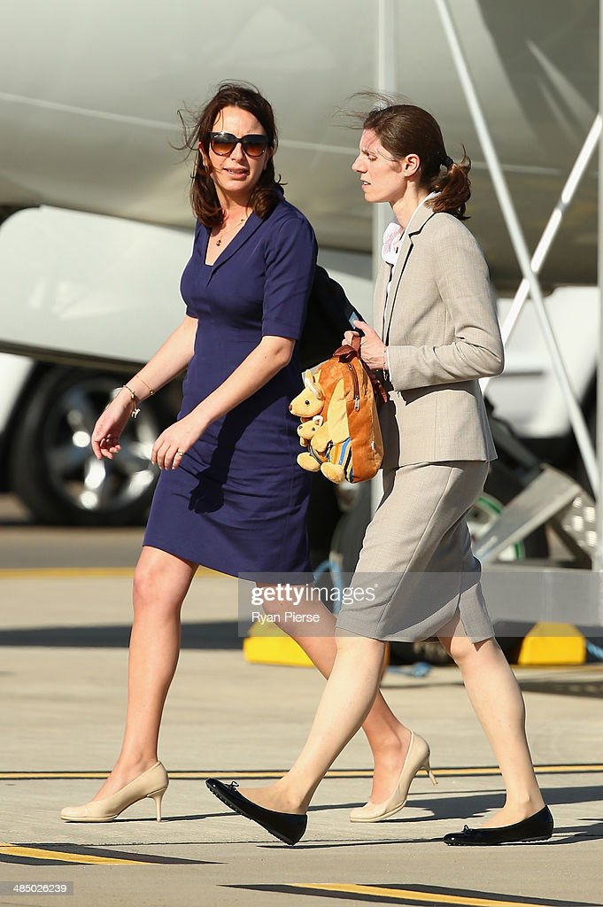 Private Secretary to the Duchess of Cambridge Rebecca Deacon, and Nanny Maria Borrallo arrive at Sydney Airport on RAAF B737 on April 16, 2014 in Sydney, Australia. The Duke and Duchess of Cambridge are on a three-week tour of Australia and New Zealand, the first official trip overseas with their son, Prince George of Cambridge.