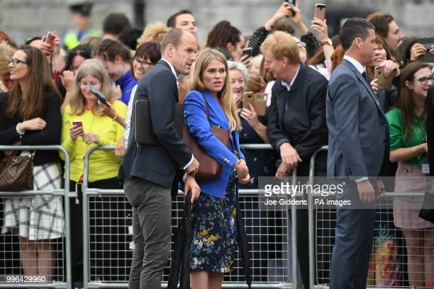 Private secretary to the Duke of Sussex Ed Lane Fox and the assistant private secretary to the Duchess of Sussex Amy Pickerill at Trinity College...