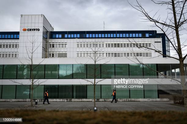 Private security guard shows Swiss encryption company Crypto AG headquaters in Steinhausen near Zug on February 13 2020 Outraged commentators warned...