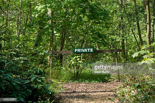 Private sign in forest