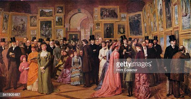 'Private View at the Royal Academy 1881' 1883 From The Studio Volume 109 [The Offices of the Studio London 1935]Artist William Powell Frith