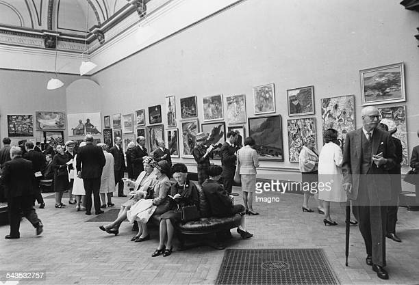 Private Viewing day at the Royal Academy for the summer 1967 exhibition London 28th April 1967 Photograph