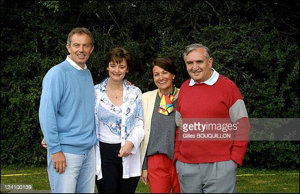 Private visit for british and french Prime Minister in Lagrezette Castle in south western France In Cahors, France On August 12, 2002 - Tony Blair...