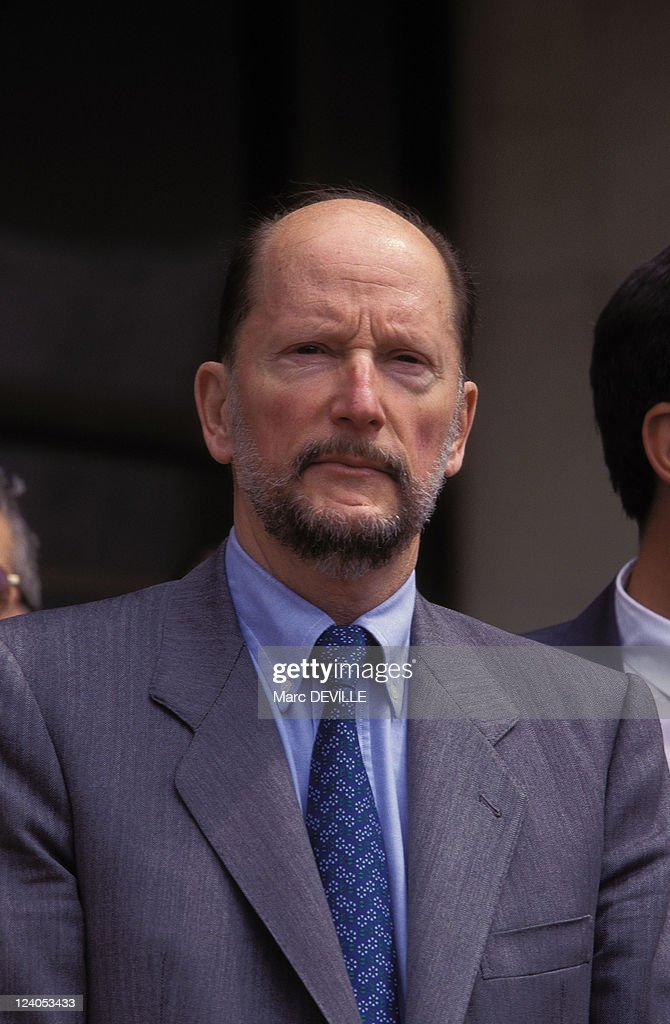 Private visit of King Simeon In Bulgaria In May, 1996 - Visiting Blageougrade city.