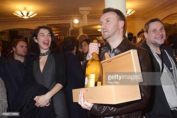 """Prix de Flore 2015 winner Jean-Noel Orengo attends the """"Prix De Flore 2015 : """" Literary Prize Winner Announcement at Cafe de Flore on November 10,..."""