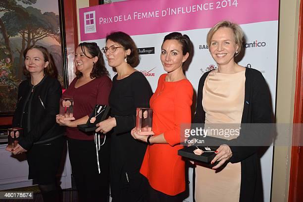 'Prix De La Femme D'Influence' awrded Nathalie Loiseau Zahia Ziouani's twin sister Fettouma Ziouani Nathalie Balla Catherine Barba and Virginie...