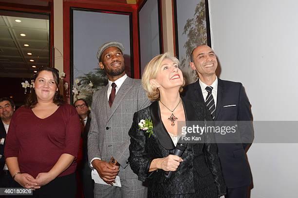 'Prix De La Femme D'Influence Coup de Coeur ' conductor Zahia Ziouani's twin sister Fettouma Ziouani Didier Drogba Patricia Chapelotte and Jean...