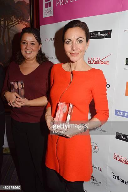 'Prix De La Femme D'Influence Coup de coeur' Zahia Ziouani's twin sister Fettouma Ziouani and awarded Catherine Barba attend the 'Prix De La Femme...