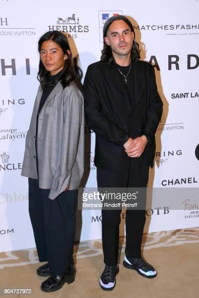 'Prix du Label Creatif' Laura Do and Bastien Laurent for Avoc Architecture Vestimentaire et Ornement Corporel attend the ANDAM 2017 Prize Winner...