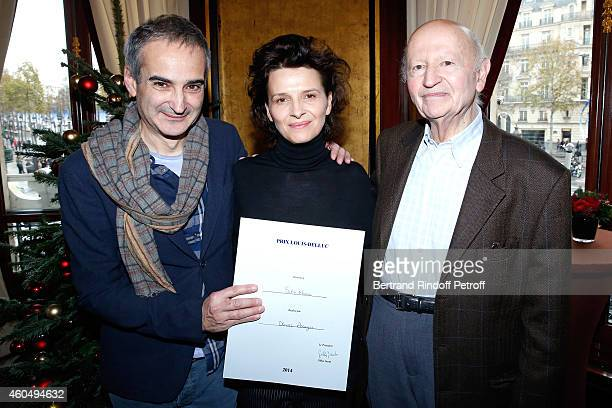 'Prix Louis Delluc' award Director Olivier Assayas for the movie 'Sils Maria' actress of 'Sils Maria' Juliette Binoche and President of the 'Prix...