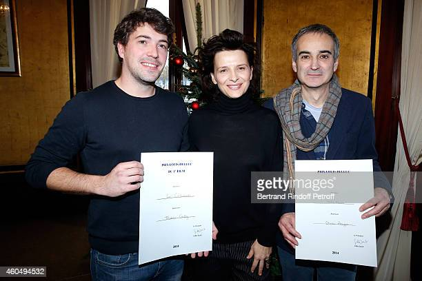 'Prix Louis Delluc for First Movie' award Director Thomas Cailley for the movie 'Les Combattants' actress of 'Sils Maria' Juliette Binoche and 'Prix...