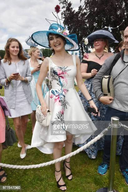 Nina Arabian and Lola Meski attend the Prix de Diane Longines 2018 at Hippodrome de Chantilly on June 17 2018 in Chantilly France