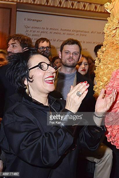 Prix Wepler President Marie Rose Guarnieri attends the 'Prix Wepler 2014' Litterary Awards Ceremony Cocktail at the Brasserie Wepler on November 10...