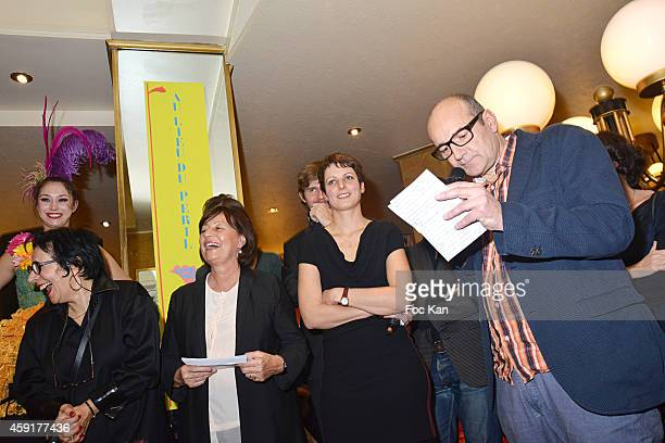 Prix Wepler President Marie Rose Guarnieri Prix Wepler 2014 Jury Special Prize awarded Sophie d' Ivry for her book 'La Condition Pavillonnaire' and...