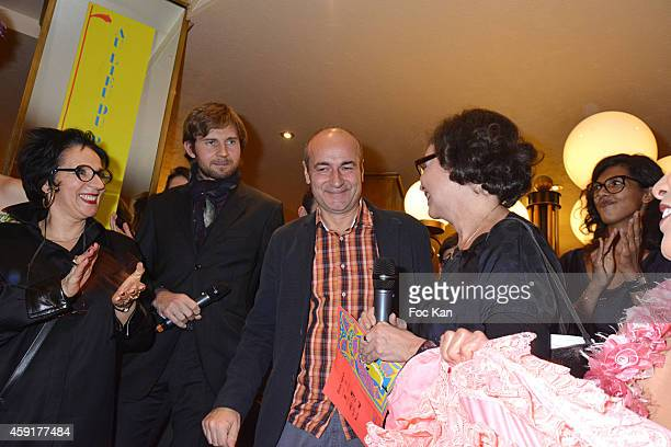 Prix Wepler President Marie Rose Guarnieri Wepler 2014 awarded Jean Hubert Grailliot for his book 'Le Soleil' and members of the Wepler jury attend...