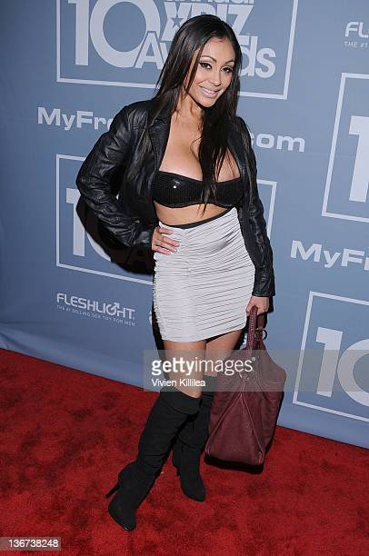 Priya Rai attends the 10th Annual XBIZ Awards at The Barker Hanger on January 10 2012 in Santa Monica California
