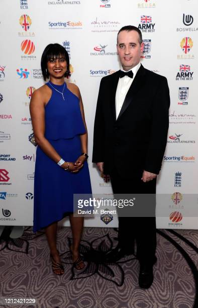 Priya Samuel and guest attend the British Ethnic Diversity Sports Awards 2020 at the Hilton Park Lane on March 14 2020 in London England