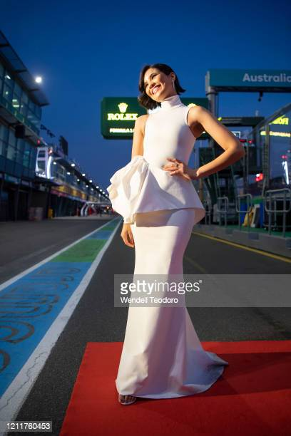 Priya Serrao attends the Glamour On The Grid party on March 11 2020 in Melbourne Australia