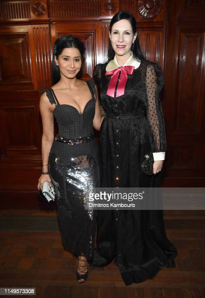 Priya Shukla and Jill Kargman attends the Hot Pink Party hosted by the Breast Cancer Research Foundation at Park Avenue Armory on May 15, 2019 in New...