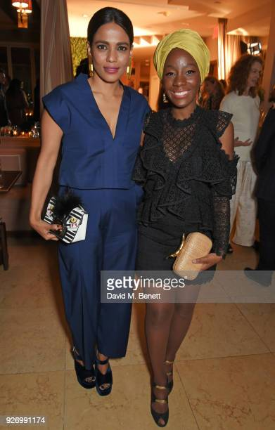 Priyanka Bose and Samata Pattinson attend the first annual gala hosted by MAISONDEMODECOM and Perrier Jouet to celebrate Sustainable Style by...
