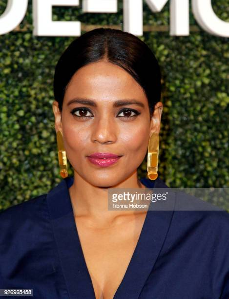 Priyanka Bose attends MAISONDEMODE celebration of sustainable style by honoring Suzy Amis Cameron of Red Carpet Green Dress at Sunset Tower on March...