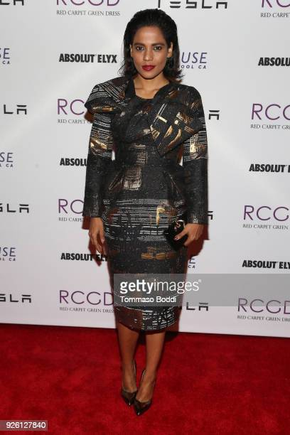 Priyanka Bose attends the Suzy Amis Cameron Hosts The Red Carpet Green Dress 9th Annual PreOscars Celebration at Private Residence on March 1 2018 in...