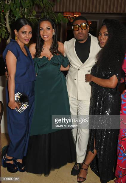 Priyanka Bose Rosario Dawson guest and Angela Bassett attend the first annual gala hosted by MAISONDEMODECOM and Perrier Jouet to celebrate...