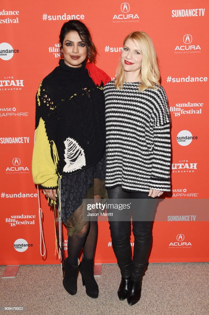 Priyanka Chopra and Claire Danes attend the 'A Kid Like Jake' Premiere during the 2018 Sundance Film Festival at Eccles Center Theatre on January 23, 2018 in Park City, Utah.
