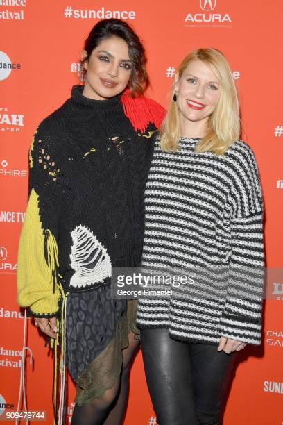 Priyanka Chopra and Claire Danes attend the 'A Kid Like Jake' Premiere during the 2018 Sundance Film Festival at Eccles Center Theatre on January 23...