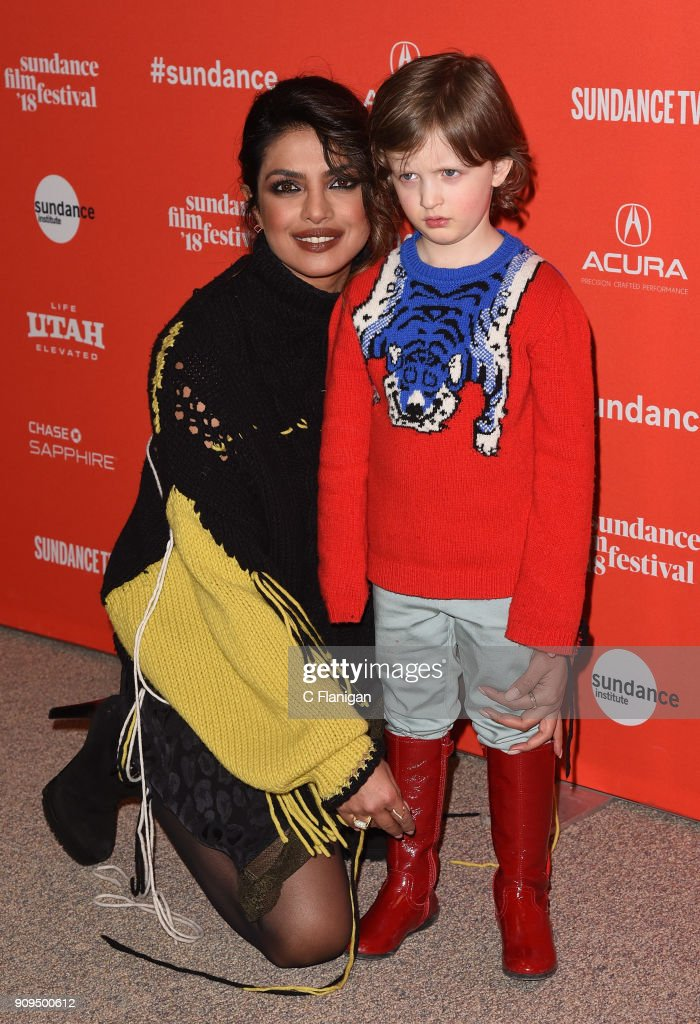 Priyanka Chopra and Leo James Davis attend the 'A Kid Like Jake' Premiere during the 2018 Sundance Film Festival at Eccles Center Theatre on January 23, 2018 in Park City, Utah.