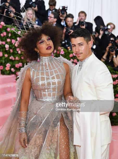 Priyanka Chopra and Nick Jonas and attend The 2019 Met Gala Celebrating Camp: Notes on Fashion at Metropolitan Museum of Art on May 06, 2019 in New...