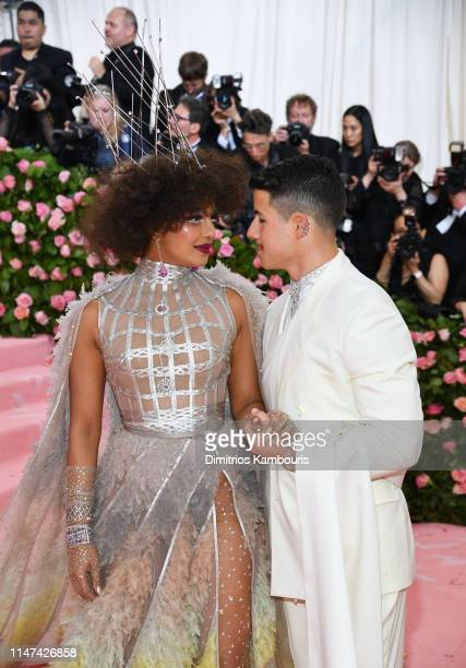 Priyanka Chopra and Nick Jonas and attend The 2019 Met Gala Celebrating Camp Notes on Fashion at Metropolitan Museum of Art on May 06 2019 in New...