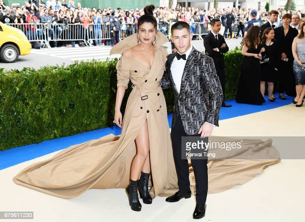 Priyanka Chopra and Nick Jonas attend Rei Kawakubo/Comme des Garcons Art Of The InBetween Costume Institute Gala at Metropolitan Museum of Art on May...