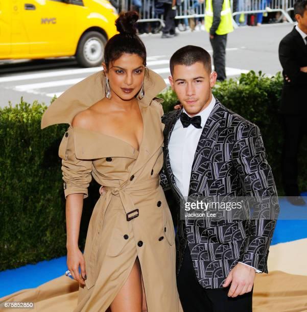 Priyanka Chopra and Nick Jonas attend 'Rei Kawakubo/Comme des GarçonsArt of the InBetween' Costume Institute Gala at Metropolitan Museum of Art on...