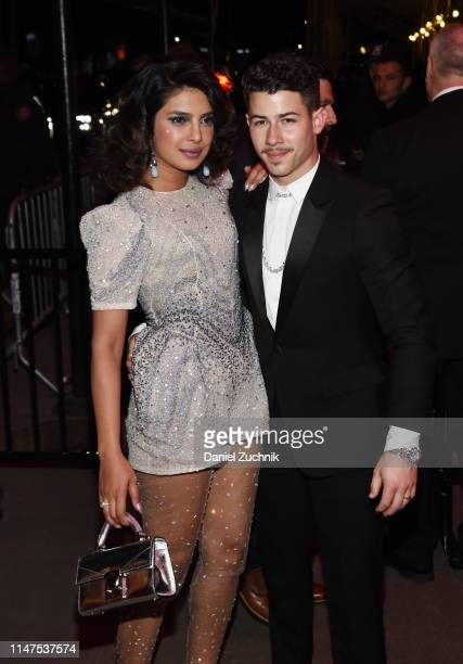 Priyanka Chopra and Nick Jonas attend the 2019 Met Gala Boom Boom Afterparty at The Standard hotel on May 06 2019 in New York City