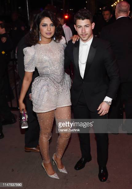 Priyanka Chopra and Nick Jonas attend the 2019 Met Gala Boom Boom Afterparty at The Standard hotel on May 06, 2019 in New York City.