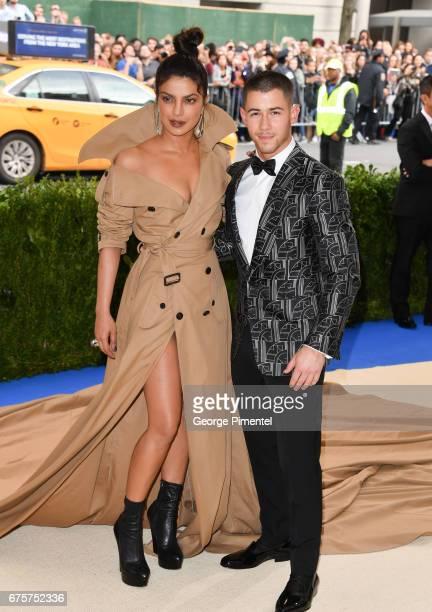 Priyanka Chopra and Nick Jonas attend the 'Rei Kawakubo/Comme des Garcons Art Of The InBetween' Costume Institute Gala at Metropolitan Museum of Art...
