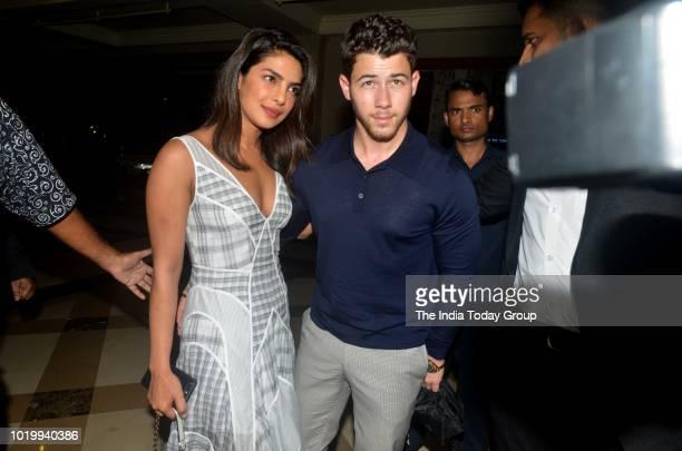 Priyanka Chopra and Nick Jonas in Mumbai