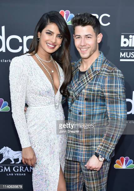 Priyanka Chopra and Nick Jonas of Jonas Brothers attend the 2019 Billboard Music Awards at MGM Grand Garden Arena on May 1 2019 in Las Vegas Nevada