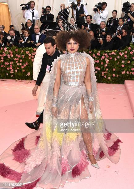 Priyanka Chopra arrives at the 2019 Met Gala Celebrating Camp Notes On Fashion at The Metropolitan Museum of Art on May 6 2019 in New York City
