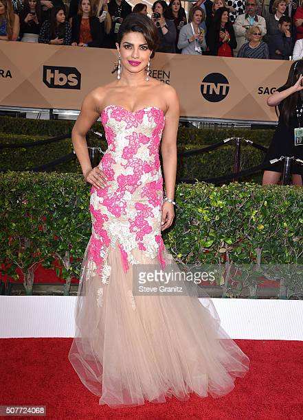 Priyanka Chopra arrives at the 22nd Annual Screen Actors Guild Awards at The Shrine Auditorium on January 30 2016 in Los Angeles California
