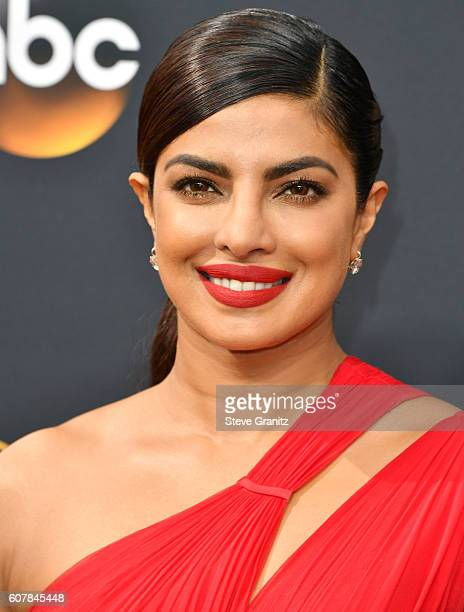 Priyanka Chopra arrives at the 68th Annual Primetime Emmy Awards at Microsoft Theater on September 18 2016 in Los Angeles California
