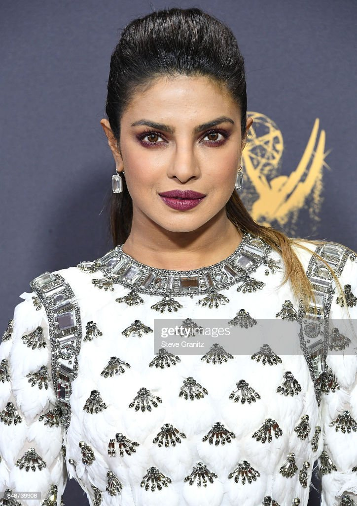Priyanka Chopra arrives at the 69th Annual Primetime Emmy Awards at Microsoft Theater on September 17, 2017 in Los Angeles, California.
