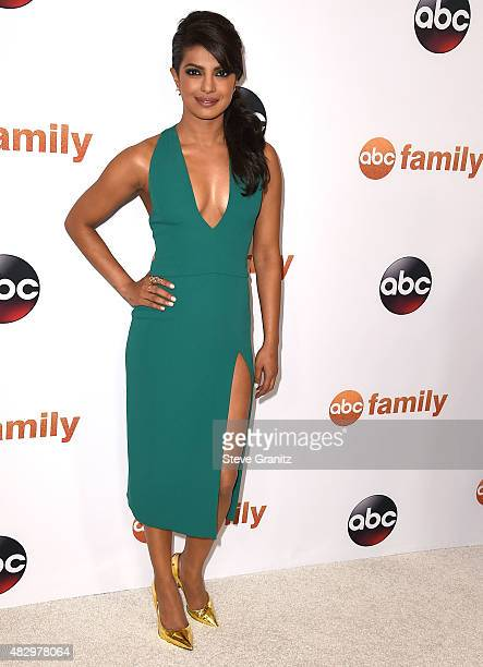 Priyanka Chopra arrives at the Disney ABC Television Group's 2015 TCA Summer Press Tour on August 4 2015 in Beverly Hills California